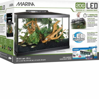 Marina 20G LED 75 L – Kit de acuario de cristal